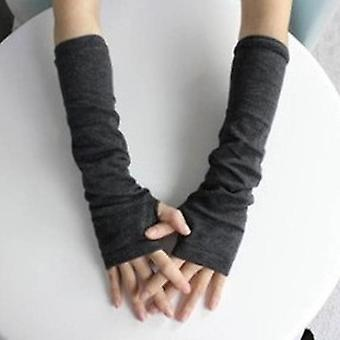 1 Pair Soft Stretchy Wrist Arm Hand Warmer Knitted Mittens Winter Long