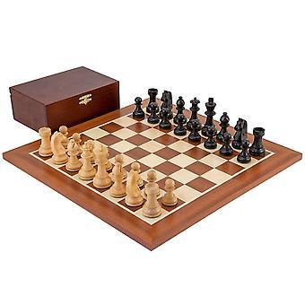 Down Head Black Championship Chess Set