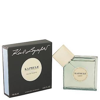 Kapsule Light Eau De Toilette Spray por Karl Lagerfeld 2.5 oz Eau De Toilette Spray