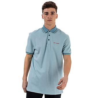 Men's Ted Baker Handie Oxford Golf Polo Shirt in blau