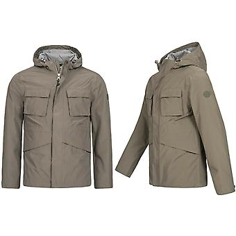 Timberland Mount Clay Waterproof Wharf Jacket Hoooded Parka Taupe A1MZH 037 X17A