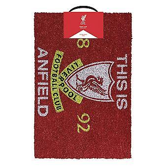 Liverpool FC Tämä on Anfieldin ovimatto