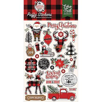 Echo Park A Lumberjack Christmas Puffy Stickers