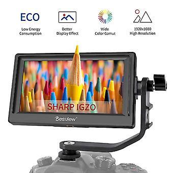 "Desview p5 camera field monitor, 5.5"" sharp igzo lcd dslr monitor 4k hdmi focusing screen 920 * 1080"
