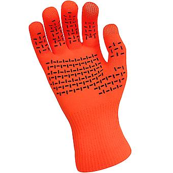 Dexshell Adults Thermfit Touch Screen Waterproof Winter Gloves - Bright Orange