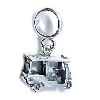 Tuk Tuk Taxi Penzoloni Perline Sterling Argento Charm .925 X 1 Tuks Charms - 8305