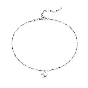 Simple Essential Bead Link Anklets, Sterling Silver Bracelet For Foot, Jewelry
