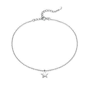 Einfache wesentliche Perle Link Fußkettchen, Sterling Silber Armband für Fuß, Schmuck