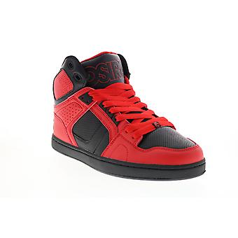 Osiris Nyc 83 Clk  Mens Red Leather Skate Inspired Sneakers Shoes