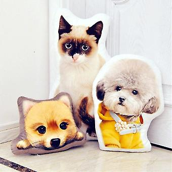 Solid Color Cushion Puppy Shape Comfortable Pillow Creative Cushion