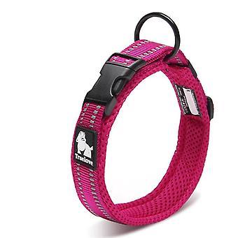Adjustable Mesh Padded Collar, 3m Reflective, Nylon Collar For Pet, Dog