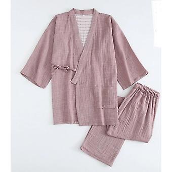 Sleepwear Couple Robes Pyjama Sets Crepe Cotton Sauna Gauze Suits Femmes
