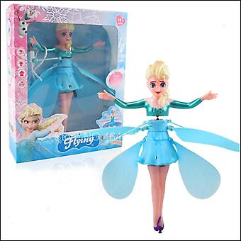 Flying Princess Elsa With Music Toy Infrared Induction Remote Control