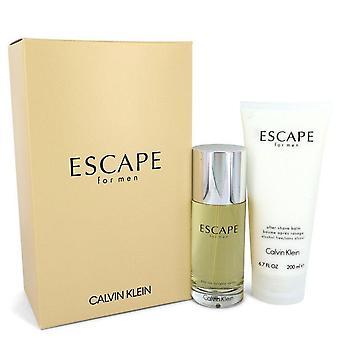 Flucht Geschenk Set von Calvin Klein 3,4 Oz Eau De Toilette Spray + 6,7 oz nach Rasierbalsam