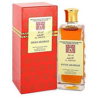 Al Anaka tiivistetty hajuvesiöljy ilman alkoholia (Unisex) Sveitsin Arabian 3,2 oz Tiivistetty Hajuvesi öljy ilman alkoholia