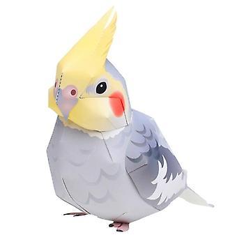 Cockatiel Parrot Bird Design-folding Cutting Mini 3d Paper Model