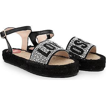 Love sandalias de correa de cristal Moschino