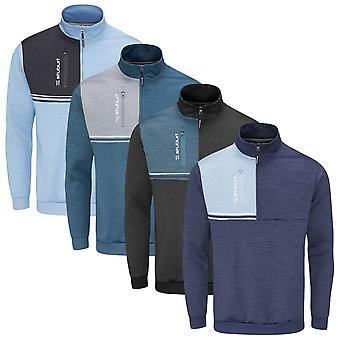 Stuburt Golf Mens 2021 Roxham Half Zip Windproof Thermal Golf Midlayer Sweater