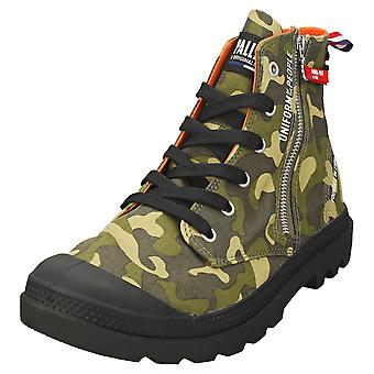 Palladium Pampa Hi Outzip Mens Fashion Boots in Camouflage