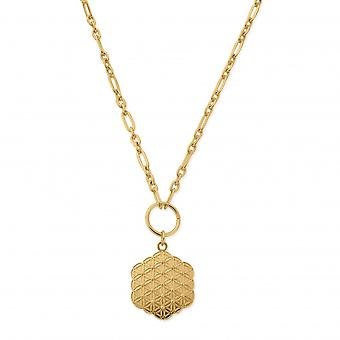 ChloBo Sterling Silver Gold Plated Flower Of Life Necklace GN3167