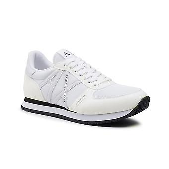 Running Armani Exchange Micro Suede/ Nylon Mesh White Sneaker Us21ax05 Xux017