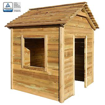 Outdoor Spielhaus 123x120x146 Cm Pinienholz