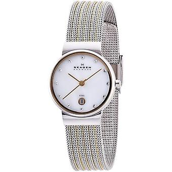 Skagen naisten Watch metallilla pinnoitettu ruostumaton teräs 355SSRS