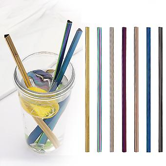 Drinking Straw Reusable Metal Straw Set Heart-shaped Bubble Tea Straws 304 Stainless Steel Pearl Milkshake Straw Set