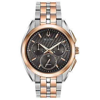 Bulova tofarget Stainess stål Chronograph Mens Watch 98A160