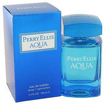 Perry Ellis Aqua by Perry Ellis Eau De Toilette Spray 3.4 oz