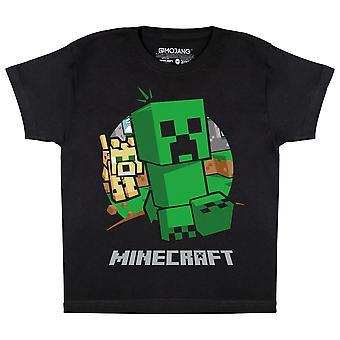Minecraft Boys Creeper Camiseta