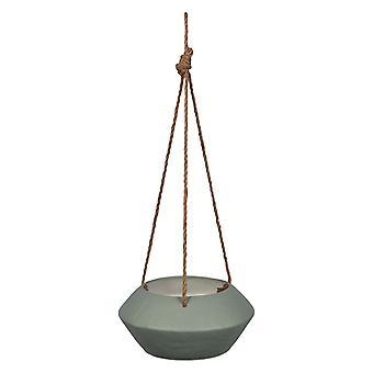 Grau Metall hängen Seil Pflanzer