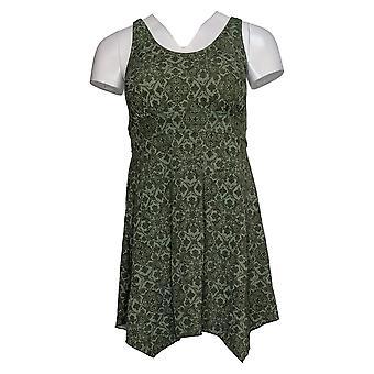 Denim & Co. Costume da bagno donna Reg Scoop-Neck Swim Dress Verde A392819