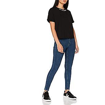 Amazon brand - find. Women's T-shirt Mini Dress, Black, 44, Label: M