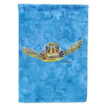 Caroline's Treasures 8653Gf Tartaruga che arriva a te bandiera, piccola, multicolore