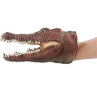Krokodil dier hoofd hand marionet figuur speelgoed handschoenen voor kinderen dinosaurus hand marionet speelgoed az9028