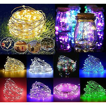 Usb 5m 50 leds yellow usb led string lights 10m 5m 3m 2m, silver wire waterproof fairy light az16802