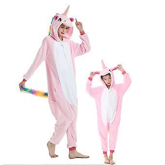 Regenboghorn Rainbow Pink Pegasus Costume Unicorn Pajama Onesie Kigurumi Jumpsuit
