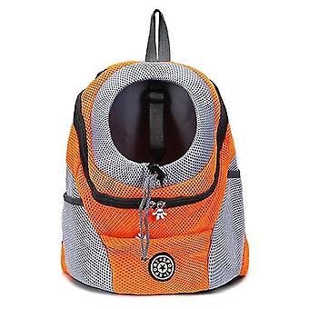 L portocaliu portabil pentru animale de companie rucsac x5039
