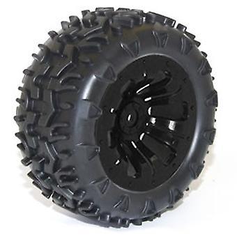 Ftx Carnage monteret hjul / dæk komplet par - sort