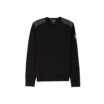 Belstaff Kerrigan Slim-Fit Quilted Shell-Trimmed Merino Wool Sweater