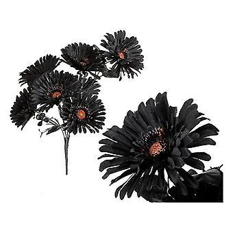 Flores decorativas Halloween Negro