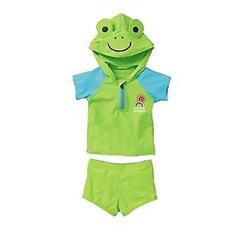 Kinder Badeanzug Kinder Split Badeanzug Grüner Frosch (130cm)