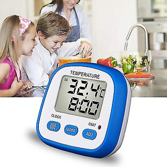 Digital Thermometer With Led Light Highest Lowest Temperature Alarm Function