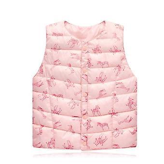 Sundae Angel Winter Kids Vest Sleeve Baby Cartoon Print Bloemen