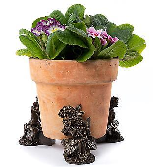 Potty fötter blomma älvor Björnbär Fairy Plant Pot Fötter Brons Färg 3pc