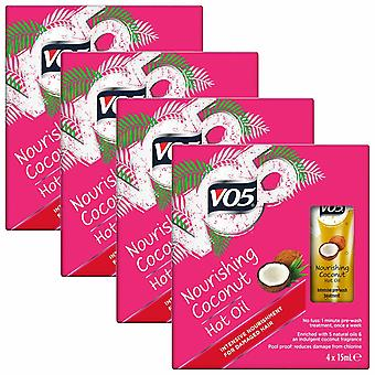 VO5 Heat Defence Nourishing Coconut Hot Oil 4x15ml Pack of 4
