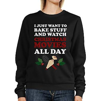 Baking And Christmas Movies Holiday Sweater Cute X-mas Gift Ideas