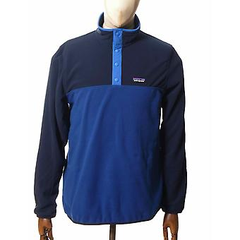Patagonia Micro D Snap-t Fleece Pullover Top - Superior Blue