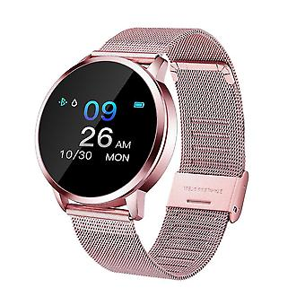Venalisa Chronus Smart Watch Color Screen Smartwatch Women Fashion Fitness Tracker Heart Rate Monitor For Android Ios(pink)